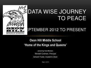 Our  Data Wise  Journey  to  PEACE September  2012 to present