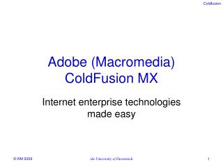 Adobe (Macromedia) ColdFusion MX