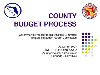 COUNTY BUDGET PROCESS