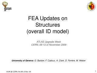 FEA Updates on Structures (overall ID model)