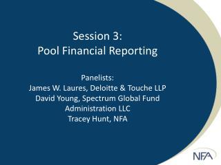 Pool Financial Reporting