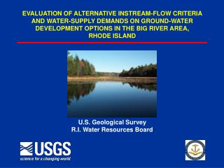 U.S. Geological Survey R.I. Water Resources Board