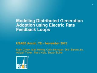 Modeling Distributed Generation Adoption using Electric Rate Feedback Loops