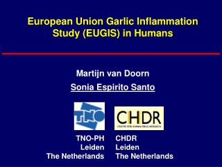 European Union Garlic Inflammation Study (EUGIS) in Humans