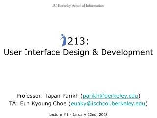 213: User Interface Design & Development