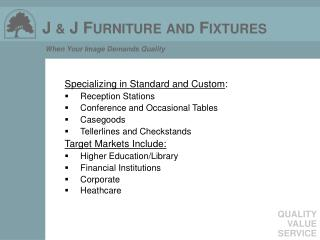 Specializing in Standard and Custom : Reception Stations Conference and Occasional Tables