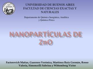 nanopartículas de z n o