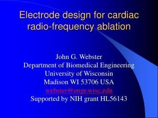Electrode design for cardiac radio-frequency ablation