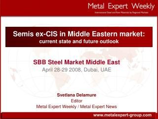Semis ex-CIS in Middle Eastern market :  current state and future outlook