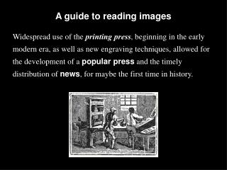 A guide to reading images