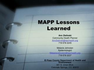 MAPP Lessons Learned