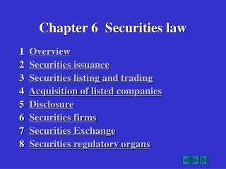 Chapter 6  Securities law