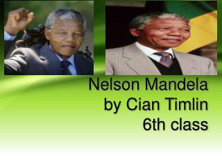 Nelson Mandela by Cian Timlin 6th class