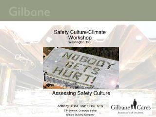 Safety Culture/Climate Workshop Washington, DC.