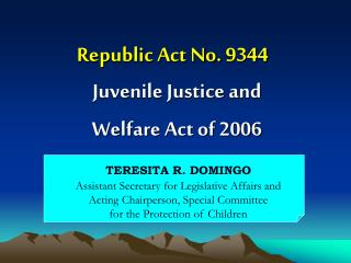 Republic Act No. 9344