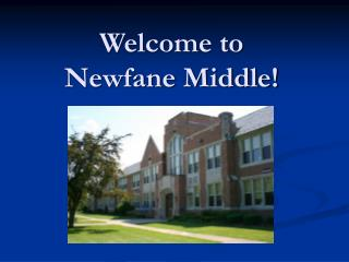 Welcome to  Newfane Middle!