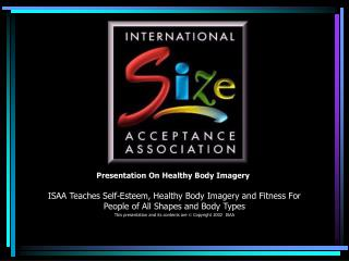 Presentation On Healthy Body Imagery