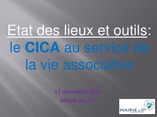 17 décembre 2012 Mairie du 17 e