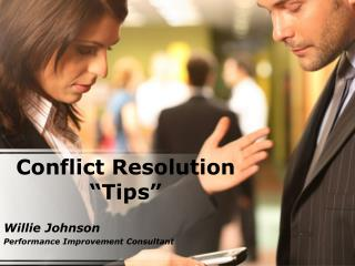 "Conflict Resolution ""Tips"""