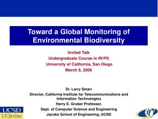 Toward a Global Monitoring of Environmental Biodiversity