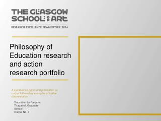 Philosophy of Education research and action research portfolio