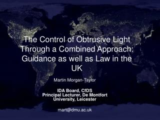 The Control of Obtrusive Light Through a Combined Approach: Guidance as well as Law in the UK