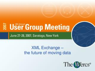 XML Exchange –  the future of moving data
