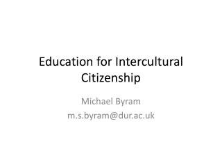 Education for Intercultural Citizenship