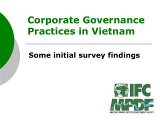 Corporate Governance Practices in Vietnam