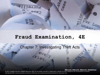 Fraud Examination, 4E