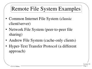 Remote File System Examples