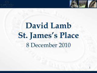 David Lamb St. James's Place