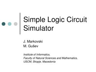 Simple Logic Circuit Simulator