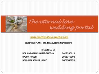 The eternal love                          wedding portal