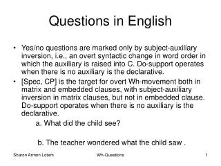 Questions in English
