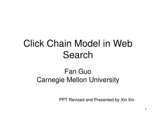 Click Chain Model in Web Search