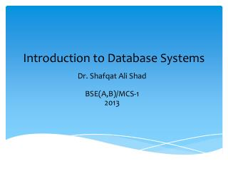 Introduction to Database Systems