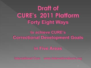 a product of The 5 th  CURE International Conference   February 21-24, 2011, Abuja, Nigeria
