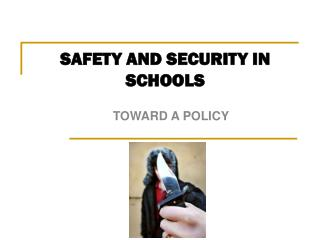 SAFETY AND SECURITY IN SCHOOLS