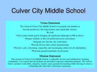 Culver City Middle School