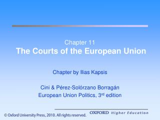 Chapter 11  The Courts of the European Union