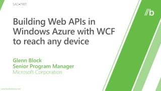 Building Web APIs in Windows Azure with WCF to reach any device