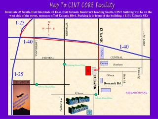 Map To CINT CORE Facility