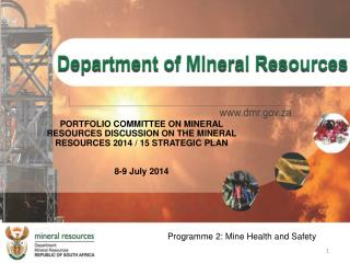 Programme 2: Mine Health and Safety