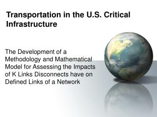 Transportation in the U.S. Critical Infrastructure