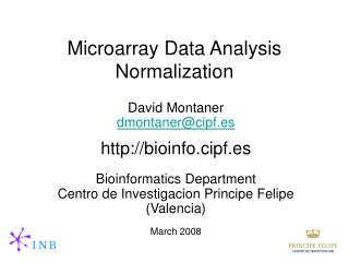 Microarray Data Analysis Normalization