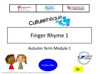 Finger Rhyme 1