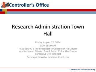 Research Administration Town Hall