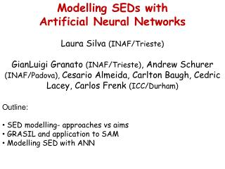 Modelling SEDs with  Artificial Neural Networks