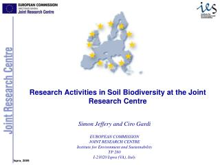 Simon Jeffery and Ciro Gardi EUROPEAN COMMISSION JOINT RESEARCH CENTRE